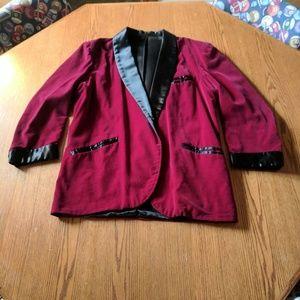 Other - Burgundy velvet blazer